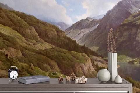 3D Hills Oil Painting Wall Mural Wallpaper  21