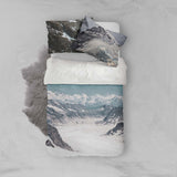 3D Snow Mountain Road Quilt Cover Set Bedding Set Pillowcases 99