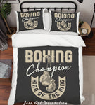 3D Boxing Champion Quilt Cover Set Bedding Set Duvet Cover Pillowcases LXL 16