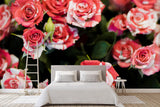 3D red rose background wall mural wallpaper 43