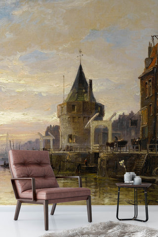 3D european architecture oil painting wall mural wallpaper 84