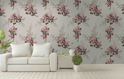 3D Pink Flowers Wall Mural Wallpaper 7