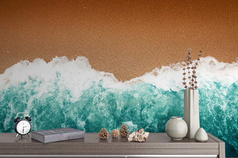3D blue sea beach wall mural wallpaper 36