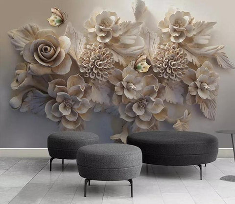3D Sculpture Flower 243 Wallpaper Jess Art Decoration