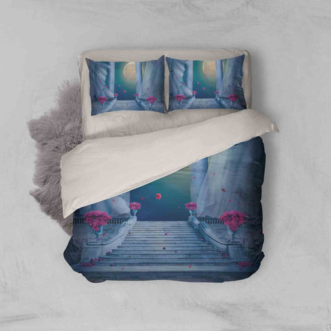 3D Dream Moon Steps Quilt Cover Set Bedding Set Pillowcases 114