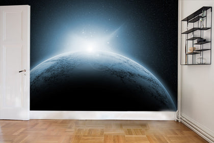 3D Planet Universe Wall Mural Wallpaper 61