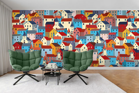 3D House Building Wall Mural Wallpaper 40