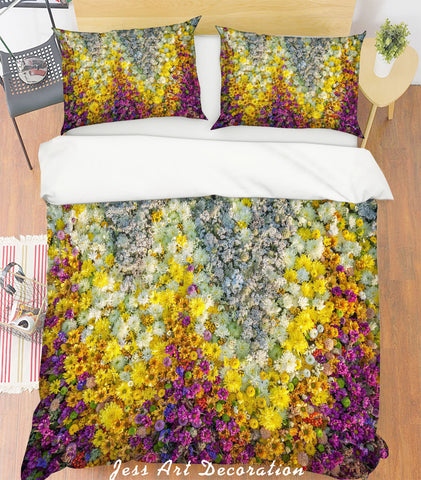 3D White Flowers Quilt Cover Set Bedding Set Pillowcases 125