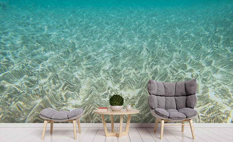 3D Blue Sea Beach Wall Mural Wallpaper 127