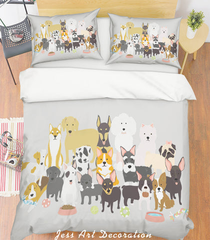 3D Cartoon Animals Quilt Cover Set Bedding Set Pillowcases  46