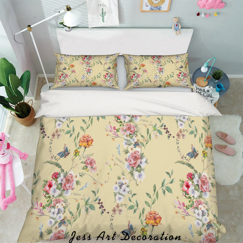 3D Pink Floral Quilt Cover Set Bedding Set Pillowcases 17