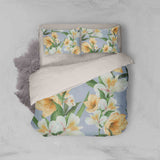 3D Blue Yellow White Floral Quilt Cover Set Bedding Set Pillowcases 17