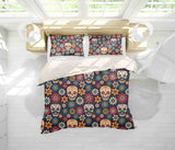 3D Colored Skull Quilt Cover Set Bedding Set Pillowcases 50