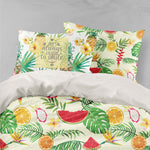 3D Watermelon Green Leaves Quilt Cover Set Bedding Set Pillowcases 49