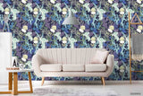 3D Hand Sketching Jellyfish Blue Purple Coral Wall Mural Wallpaper LXL 1308