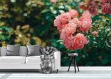 3D pink flowers wall mural wallpaper 29