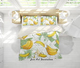 3D Yellow Bananas Quilt Cover Set Bedding Set Pillowcases 93