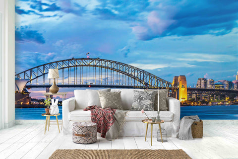 3D Sea Bridge Wall Mural Wallpaper 29 - Jessartdecoration