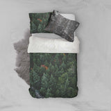 3D Green Pine Forest Quilt Cover Set Bedding Set Pillowcases 92
