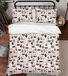 3D Hand Drawn Animal Cactus Quilt Cover Set Bedding Set Duvet Cover Pillowcases 48
