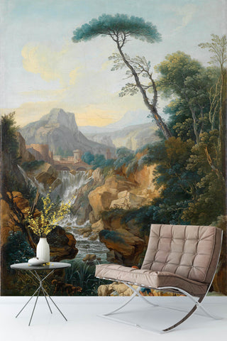 3D mountain stream oil painting wall mural wallpaper 95