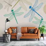 3D Color Dragonfly Wall Mural Wallpaper A257 LQH