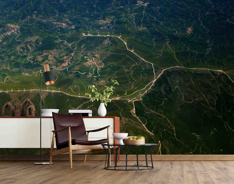 3D Green Hill Grassland Wall Mural Wallpaper SF94