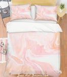 3D Pink Marble Quilt Cover Set Bedding Set Pillowcases 228