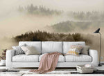 3D fog forest wall mural wallpaper 41