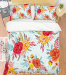 3D Colored Flowers Pattern Quilt Cover Set Bedding Set Pillowcases  64
