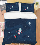 3D Blue Sky Astronaut Quilt Cover Set Bedding Set Pillowcases 160