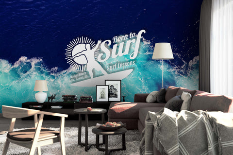 3D Blue Sea Wall Mural Wallpaper 77