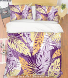 3D Purple Leaves Quilt Cover Set Bedding Set Pillowcases 106