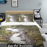 3D Valley Stream Quilt Cover Set Bedding Set Pillowcases  15