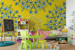 3D Yellow Flowers Wall Mural Wallpaper 63