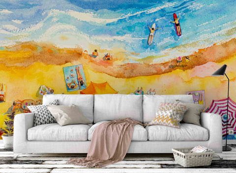 3D Summer Beach Wall Mural Wallpaper 71