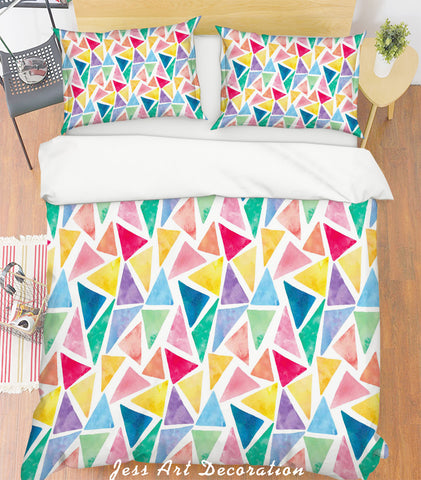 3D Color Triangle Quilt Cover Set Bedding Set Pillowcases 199