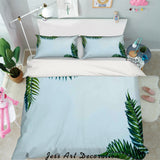 3D Green Leaves Quilt Cover Set Bedding Set Pillowcases 85
