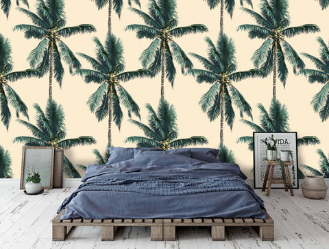 3D Tropical Trees Palms Wall Mural Wallpaper 25 - Jessartdecoration
