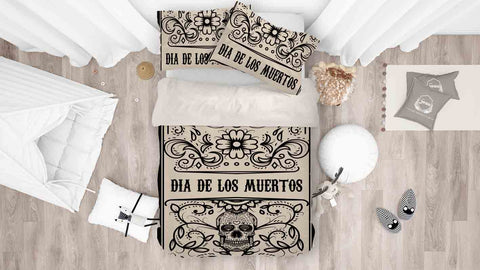3D Day Of The Dead Quilt Cover Set Bedding Set Pillowcases 73