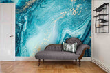 3D Blue Abstract Art Sea Wall Mural Wallpaper   32