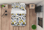 3D Seaside Fish Swimsuit Fishing Net Quilt Cover Set Bedding Set Duvet Cover Pillowcases LXL 322