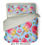 3D ColorIce Cream Quilt Cover Set Bedding Set Pillowcases  43