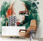 3D Watercolor Beauty Wall Murals 202 - Jessartdecoration