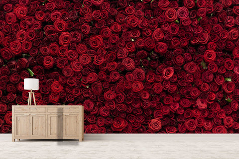 3D red rose background wall mural wallpaper 35