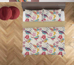 3D Hand Drawn Animal Color Bird Floral Quilt Cover Set Bedding Set Duvet Cover Pillowcases 58