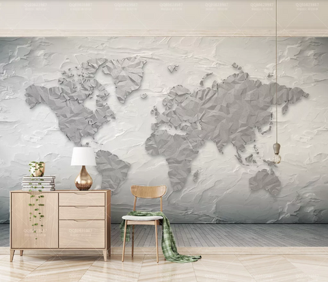 3D World Map Wall Mural Wallpaper 299