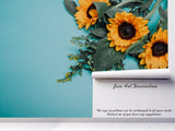 3D sunflower wall mural wallpaper 71