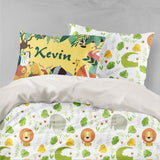 3D Cartoon Animal Leaves Quilt Cover Set Bedding Set Pillowcases 60