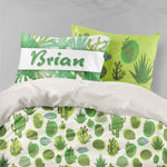3D Cactus Green Quilt Cover Set Bedding Set Pillowcases 35